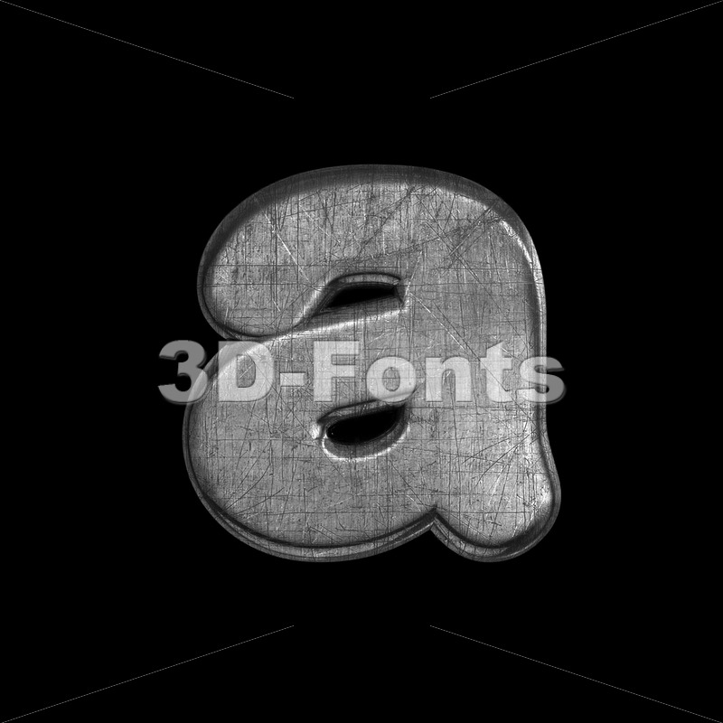 metal font A - Lowercase 3d letter - 3D Fonts Collections | Top Quality Letters, Numbers and Symbols !