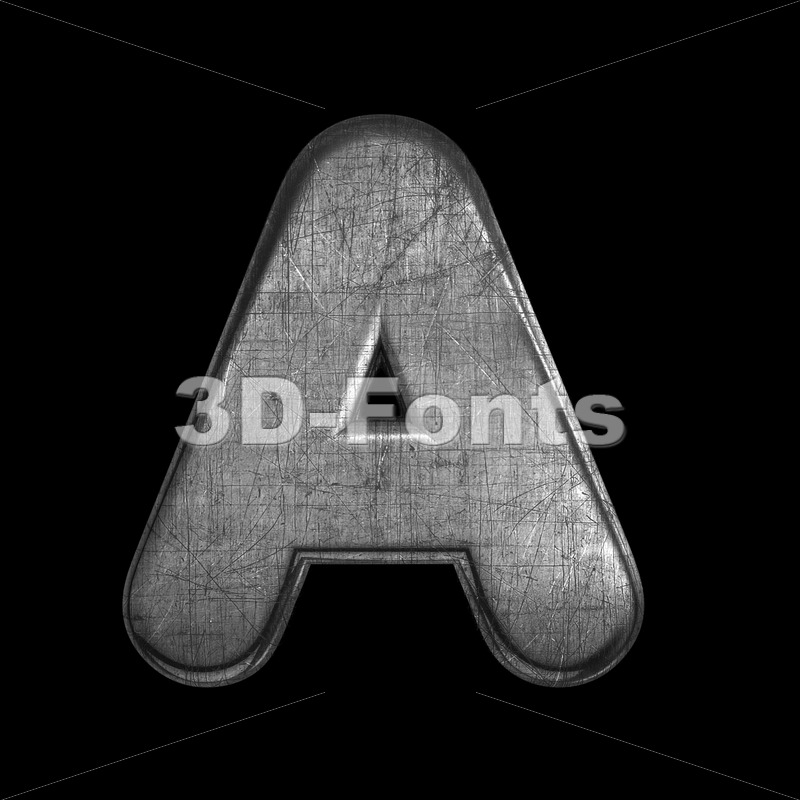 metal letter A - Capital 3d character - 3D Fonts Collections | Top Quality Letters, Numbers and Symbols !