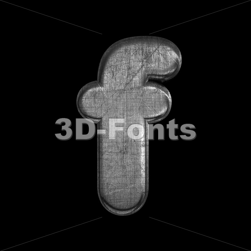 metal letter F – Small 3d font – 3D Fonts Collections | Top Quality Letters, Numbers and Symbols !