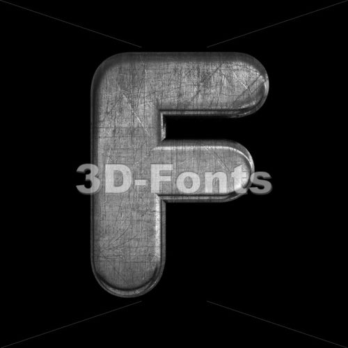 metal letter F - Upper-case 3d font - 3D Fonts Collections | Top Quality Letters, Numbers and Symbols !