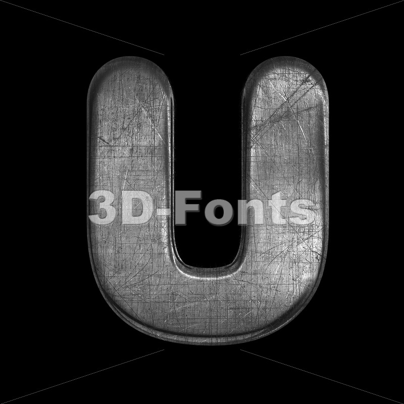 metal letter U - Capital 3d font - 3D Fonts Collections | Top Quality Letters, Numbers and Symbols !