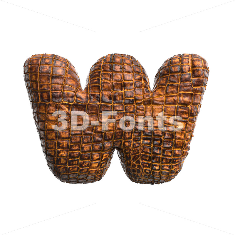 reptile alphabet letter W - Lower-case 3d character - 3D Fonts Collections   Top Quality Letters, Numbers and Symbols !