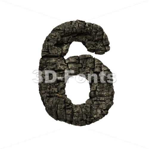 burnt wood number 6 –  3d digit – 3D Fonts Collections | Top Quality Letters, Numbers and Symbols !