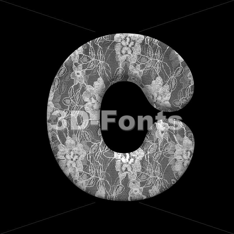 3d lace font C – Capital 3d letter - 3D Fonts Collections | Top Quality Letters, Numbers and Symbols !