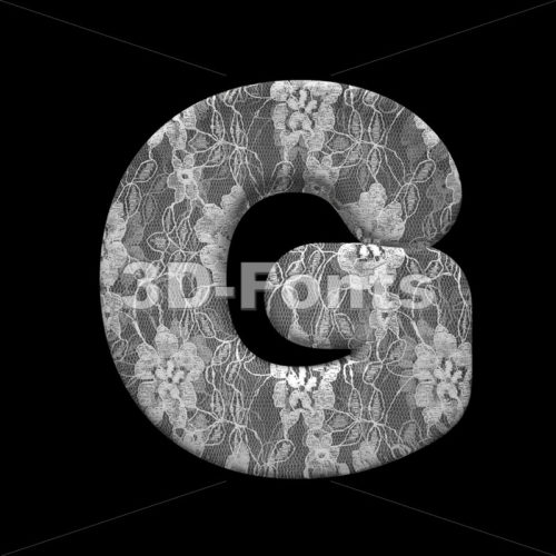 Uppercase lace character G – Capital 3d font – 3D Fonts Collections | Top Quality Letters, Numbers and Symbols !