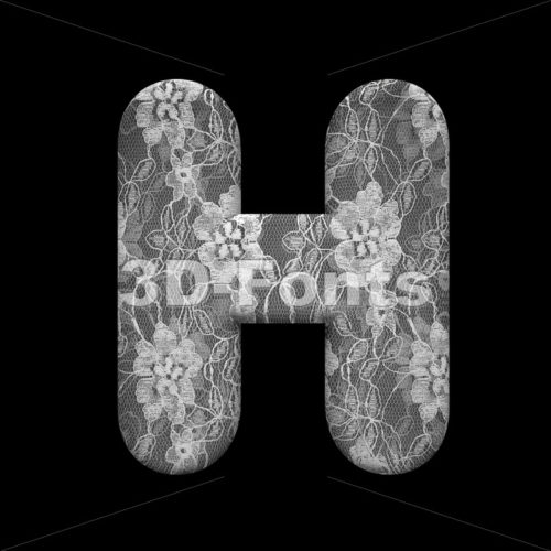 lace 3d letter H – Upper-case 3d character – 3D Fonts Collections | Top Quality Letters, Numbers and Symbols !