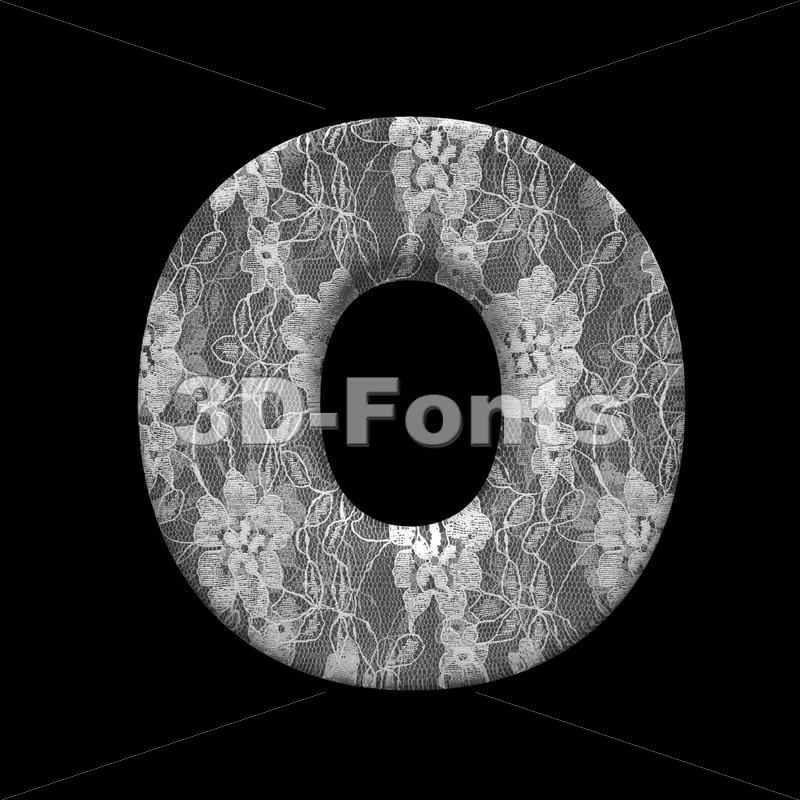 3d fabric Upper-case letter O - Large 3d font - 3D Fonts Collections | Top Quality Letters, Numbers and Symbols !