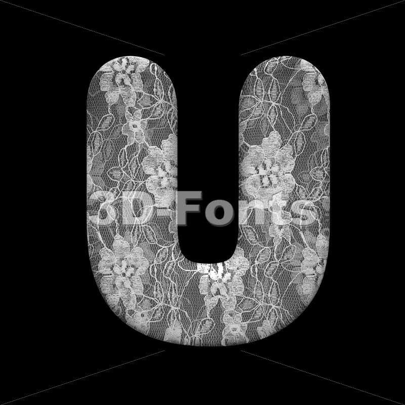 lace letter U – Capital 3d font – 3D Fonts Collections   Top Quality Letters, Numbers and Symbols !