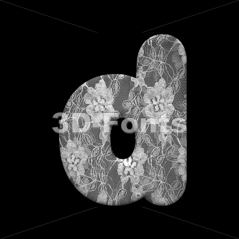 fabric alphabet letter D – Lowercase 3d font - 3D Fonts Collections | Top Quality Letters, Numbers and Symbols !