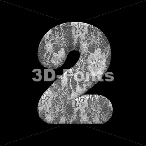 lace number 2 –  3d digit – 3D Fonts Collections | Top Quality Letters, Numbers and Symbols !