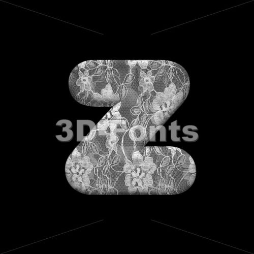 romantic 3d character Z – Lower-case 3d font – 3D Fonts Collections | Top Quality Letters, Numbers and Symbols !