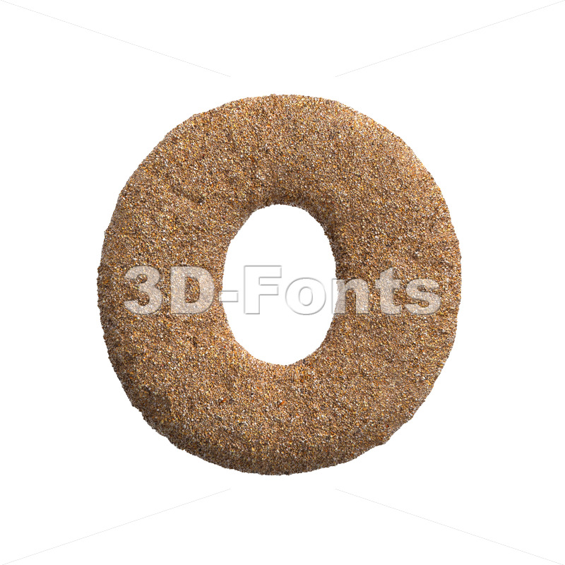3d beach Upper-case letter O - Large 3d font - 3D Fonts Collections | Top Quality Letters, Numbers and Symbols !
