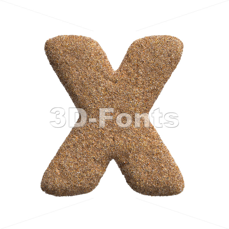 holiday character X - Upper-case 3d letter - 3D Fonts Collections | Top Quality Letters, Numbers and Symbols !