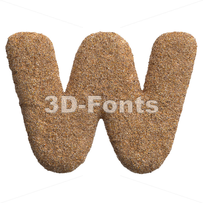 sandy font W – Capital 3d letter – 3D Fonts Collections   Top Quality Letters, Numbers and Symbols !