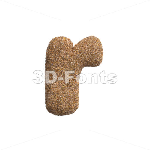 Small Sand character R – Lower-case 3d letter – 3D Fonts Collections | Top Quality Letters, Numbers and Symbols !