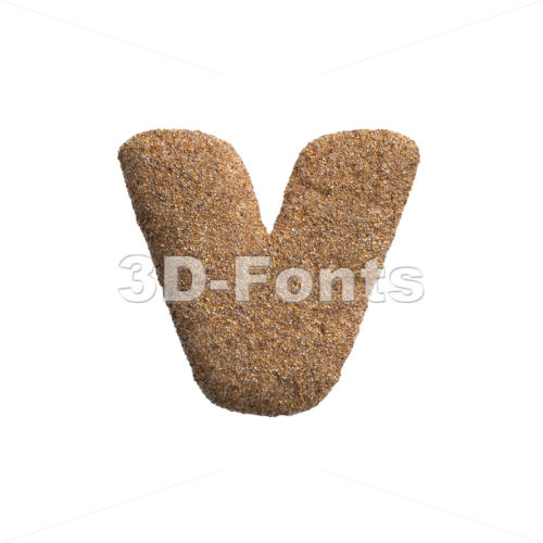 Lowercase Sand font V – Small 3d letter – 3D Fonts Collections | Top Quality Letters, Numbers and Symbols !