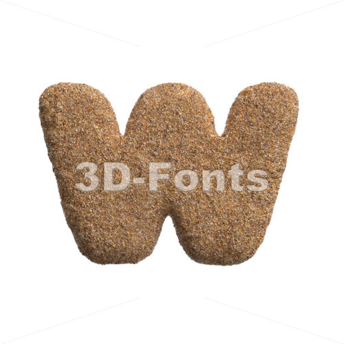 beach alphabet letter W – Lower-case 3d character – 3D Fonts Collections | Top Quality Letters, Numbers and Symbols !