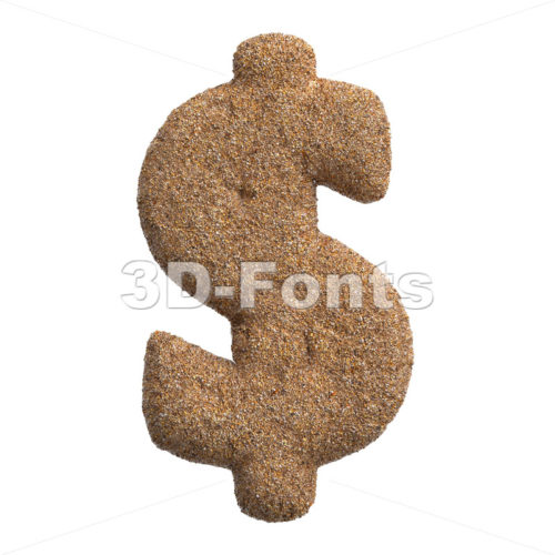 Sand dollar currency sign - 3d Money symbol - 3D Fonts Collections | Top Quality Letters, Numbers and Symbols !