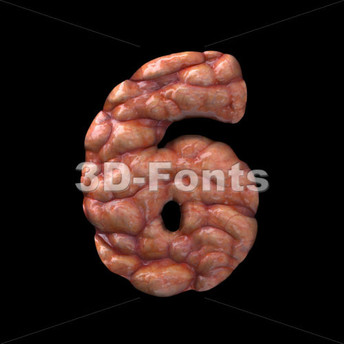 Halloween number 6 –  3d digit – 3D Fonts Collections | Top Quality Letters, Numbers and Symbols !