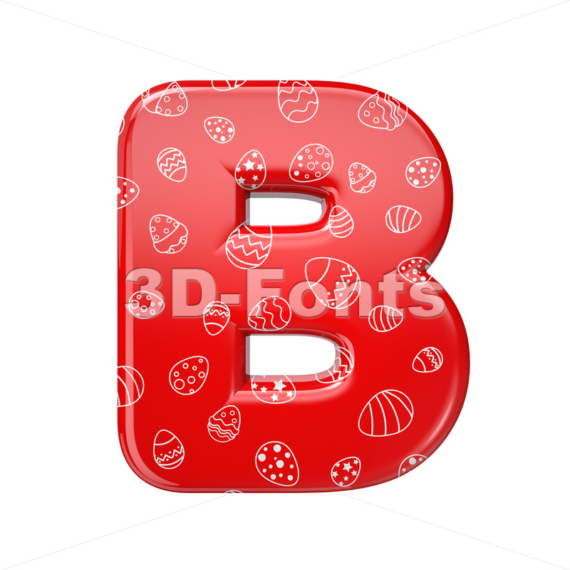 Capital Easter egg letter B – Uppercase 3d font – 3D Fonts Collections | Top Quality Letters, Numbers and Symbols !
