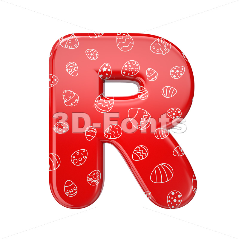 Easter letter R - Uppercase 3d font - 3D Fonts Collections | Top Quality Letters, Numbers and Symbols !
