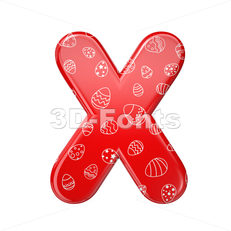 Easter character X - Upper-case 3d letter - 3D Fonts Collections | Top Quality Letters, Numbers and Symbols !
