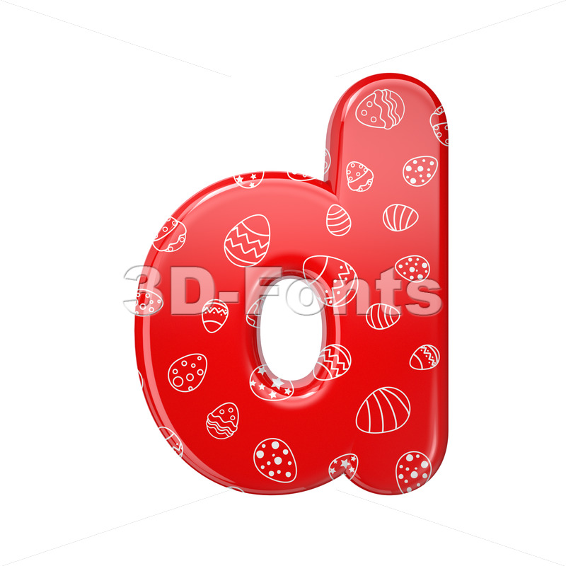 red and white celebration alphabet letter D - Lowercase 3d font - 3D Fonts Collections | Top Quality Letters, Numbers and Symbols !