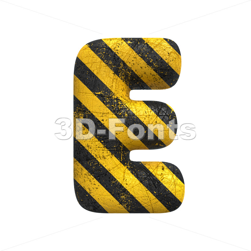 police character E - Capital 3d letter - 3D Fonts Collections | Top Quality Letters, Numbers and Symbols !