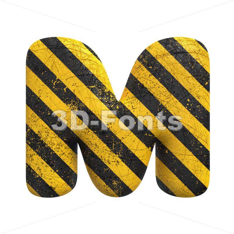 police character M - Capital 3d letter - 3D Fonts Collections | Top Quality Letters, Numbers and Symbols !