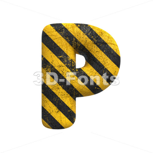 Upper-case police character P - Capital 3d font - 3D Fonts Collections | Top Quality Letters, Numbers and Symbols !