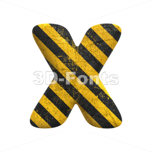 police character X - Upper-case 3d letter - 3D Fonts Collections | Top Quality Letters, Numbers and Symbols !