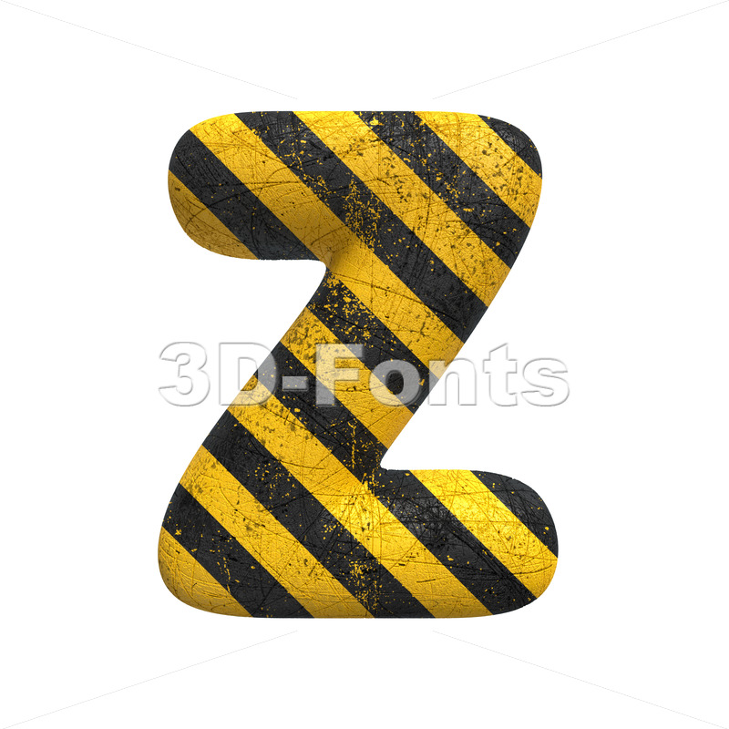 police alphabet letter Z - Upper-case 3d font - 3D Fonts Collections | Top Quality Letters, Numbers and Symbols !