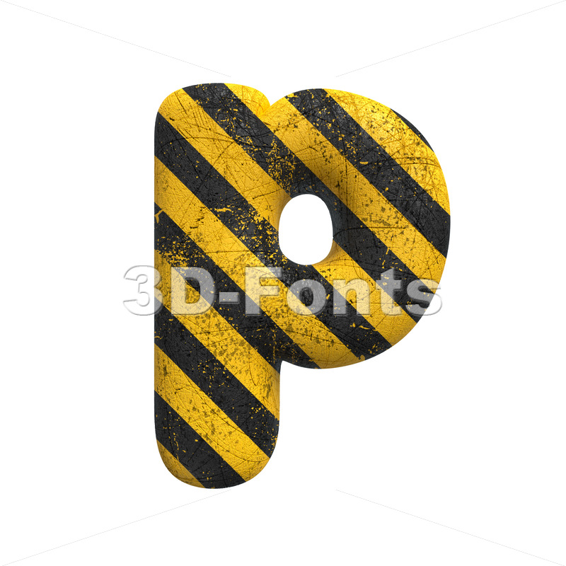 police character P - Lowercase 3d font - 3D Fonts Collections   Top Quality Letters, Numbers and Symbols !