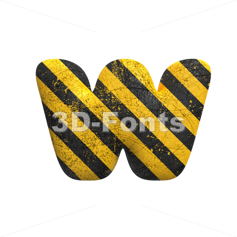 crime alphabet letter W - Lower-case 3d character - 3D Fonts Collections | Top Quality Letters, Numbers and Symbols !