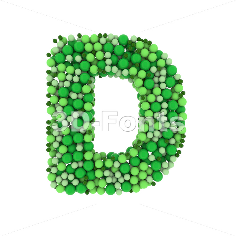 green bubbles font D - Capital 3d character - 3D Fonts Collections | Top Quality Letters, Numbers and Symbols !