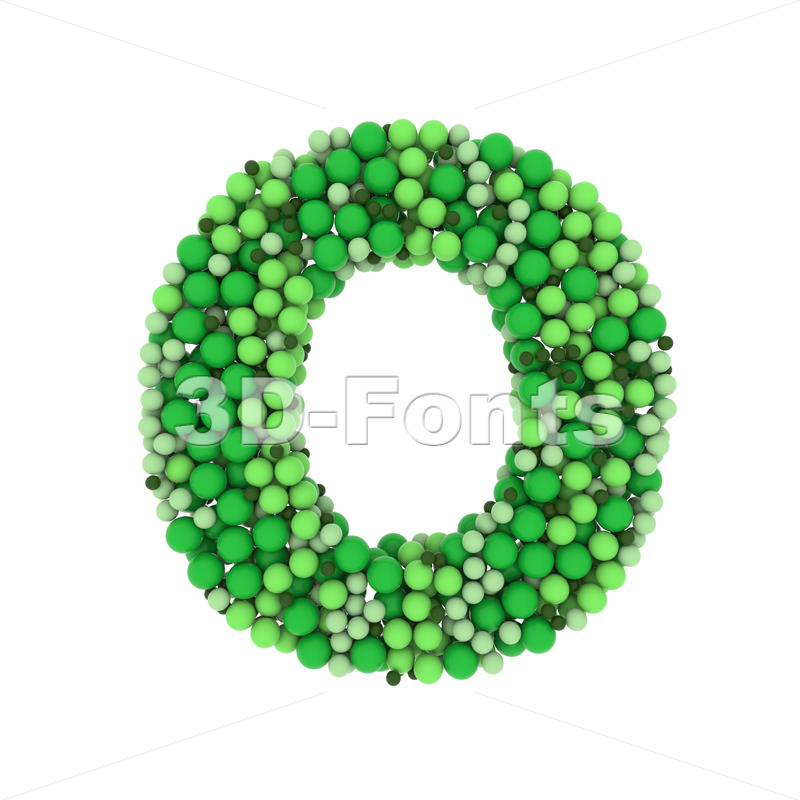 3d glossy spheres Upper-case letter O - Large 3d font - 3D Fonts Collections | Top Quality Letters, Numbers and Symbols !