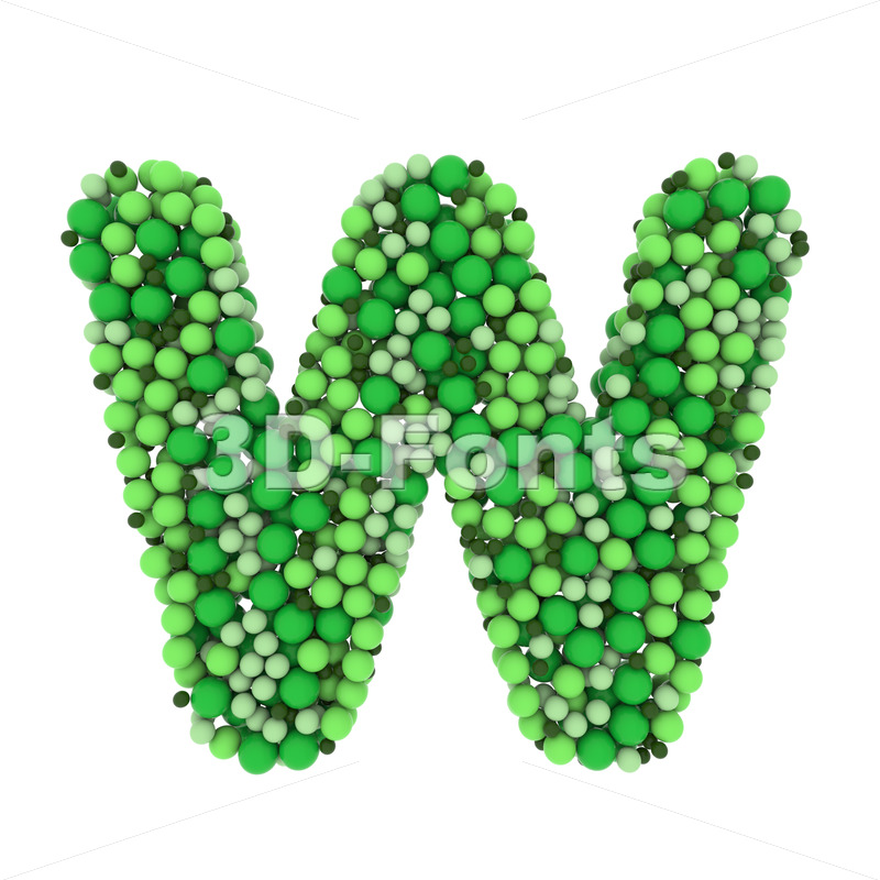 colored marbles font W - Capital 3d letter - 3D Fonts Collections | Top Quality Letters, Numbers and Symbols !
