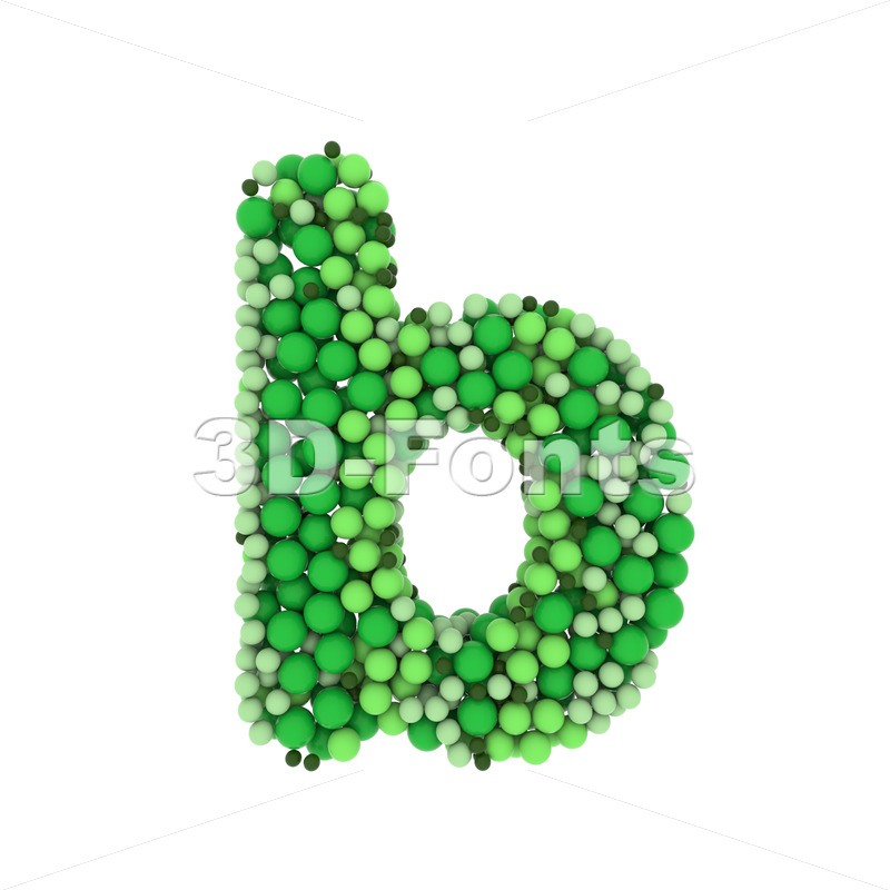 green bubbles alphabet character B - Lower-case 3d letter - 3D Fonts Collections | Top Quality Letters, Numbers and Symbols !