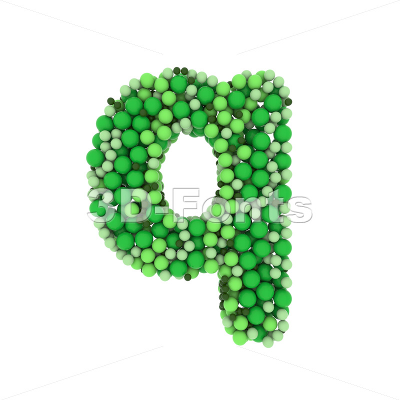 glossy spheres alphabet font Q - Lower-case 3d letter - 3D Fonts Collections | Top Quality Letters, Numbers and Symbols !