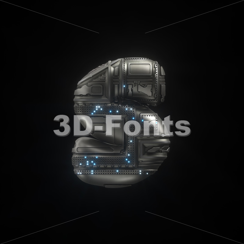 spaceship letter S - Lowercase 3d font - 3D Fonts Collections   Top Quality Letters, Numbers and Symbols !