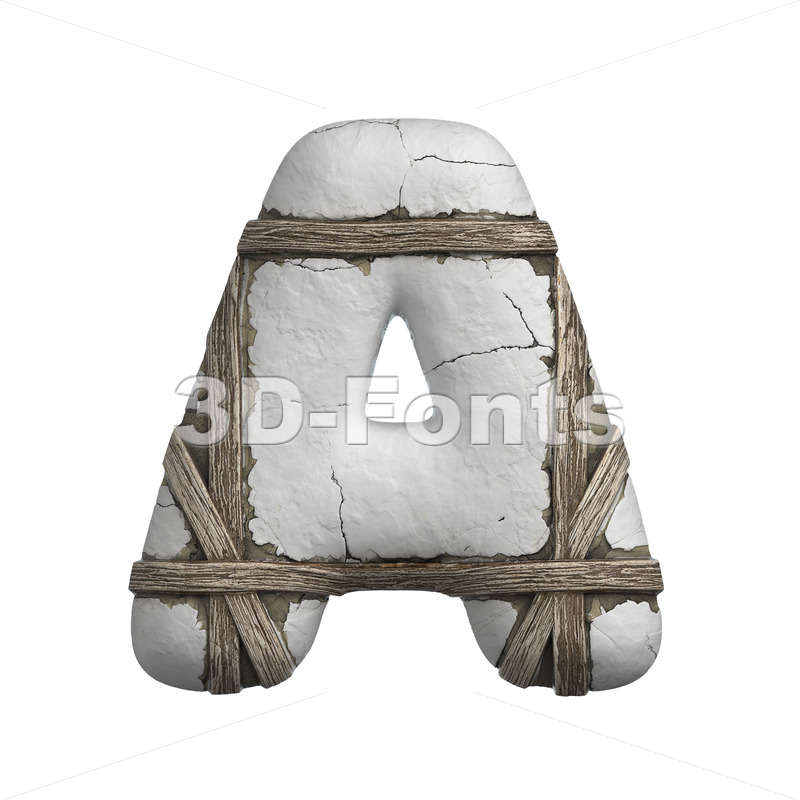 plastered letter A - Capital 3d character - 3D Fonts Collections | Top Quality Letters, Numbers and Symbols !