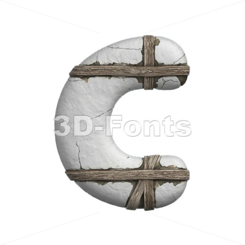 3d plastered font C - Capital 3d letter - 3D Fonts Collections | Top Quality Letters, Numbers and Symbols !