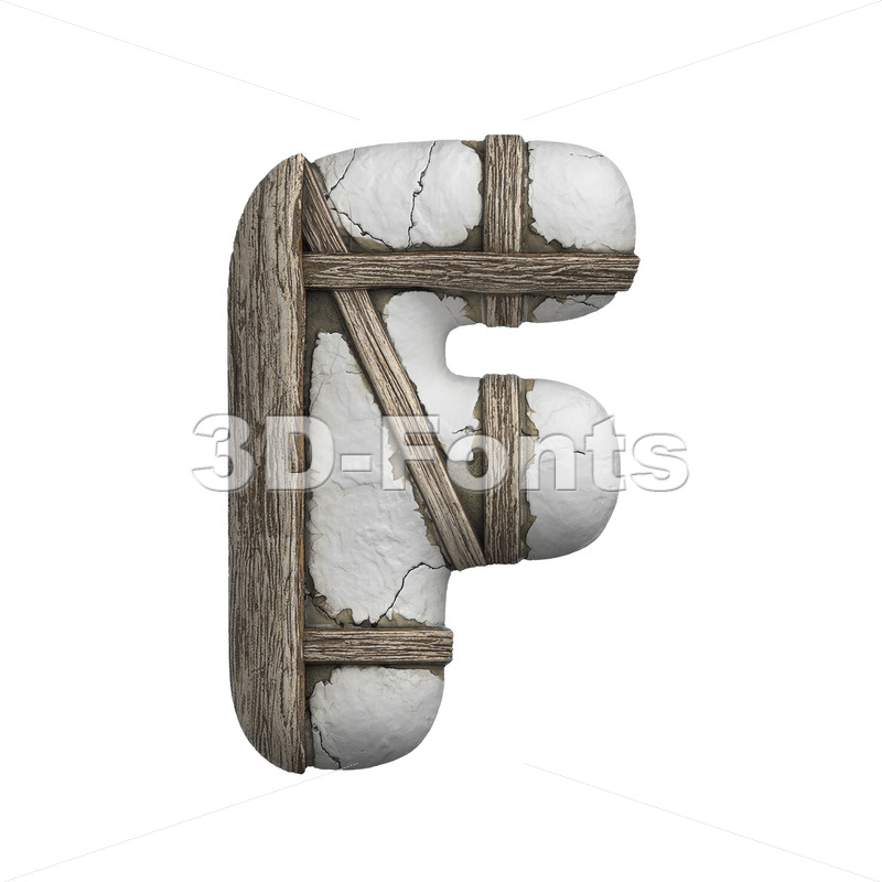 plastered letter F - Upper-case 3d font - 3D Fonts Collections | Top Quality Letters, Numbers and Symbols !