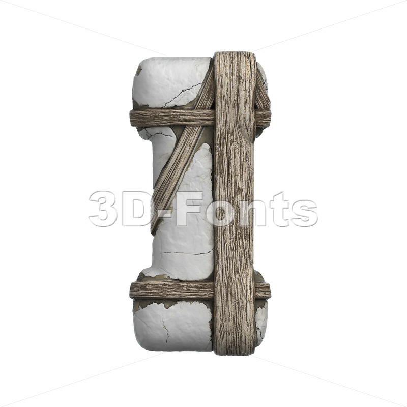 Uppercase plastered beam font I - Capital 3d letter - 3D Fonts Collections | Top Quality Letters, Numbers and Symbols !