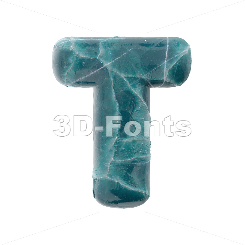 frosted character T - Uppercase 3d letter - 3D Fonts Collections | Top Quality Letters, Numbers and Symbols !