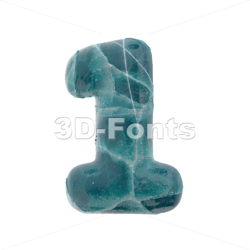cracked ice digit 1 -  3d number - 3D Fonts Collections | Top Quality Letters, Numbers and Symbols !