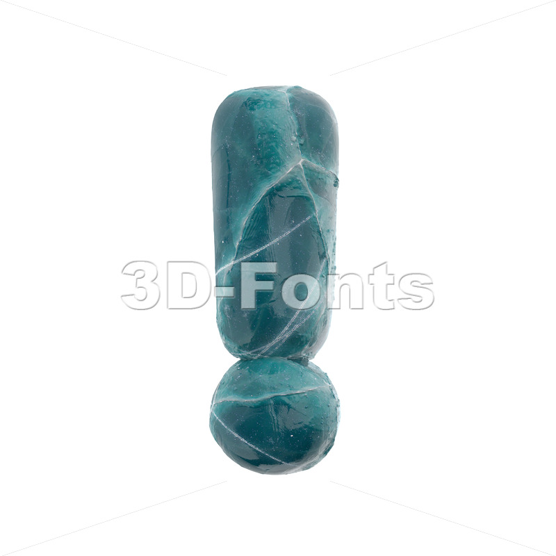 cracked ice exclamation point - 3d  symbol - 3D Fonts Collections | Top Quality Letters, Numbers and Symbols !