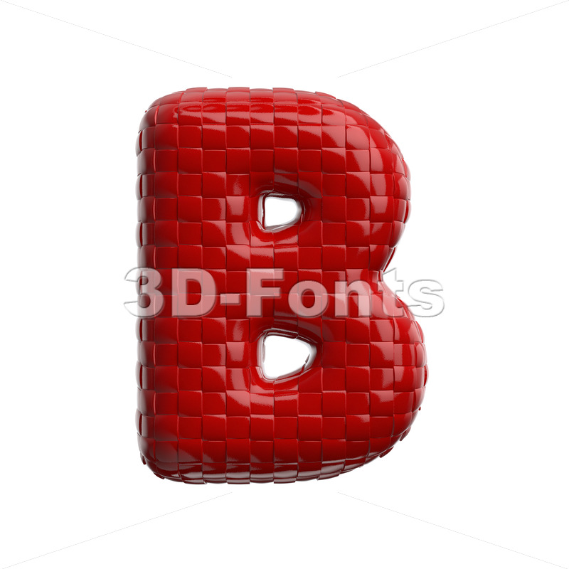 Capital patterned weaving letter B - Uppercase 3d font - 3D Fonts Collections | Top Quality Letters, Numbers and Symbols !