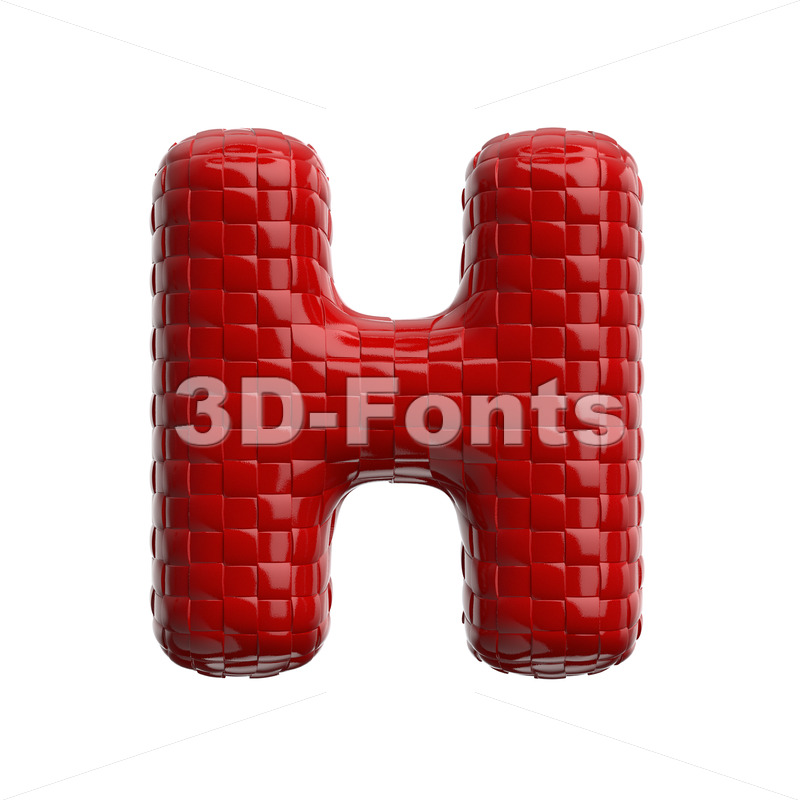 weave pattern 3d letter H - Upper-case 3d character - 3D Fonts Collections | Top Quality Letters, Numbers and Symbols !