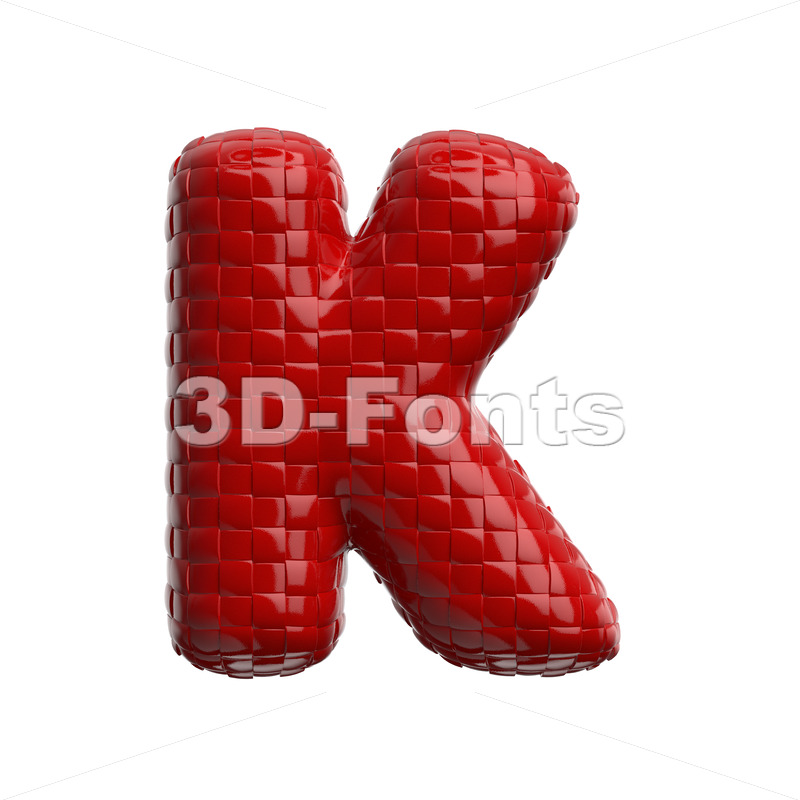 Uppercase weave pattern letter K - Capital 3d font - 3D Fonts Collections | Top Quality Letters, Numbers and Symbols !